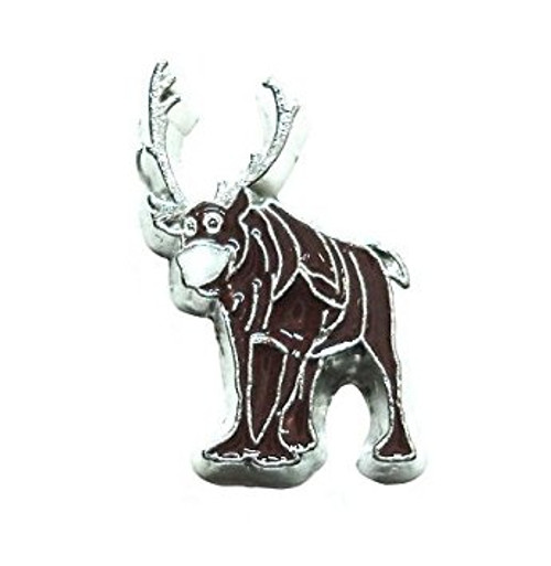 Cherityne Reindeer Sven Cartoon Character Floating Charm for Locket Pendants