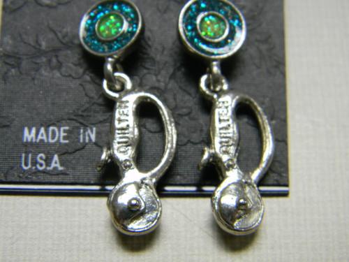 Earrings, rotary cutter