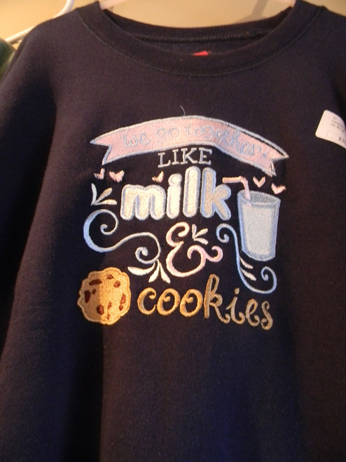 Children's milk and cookies