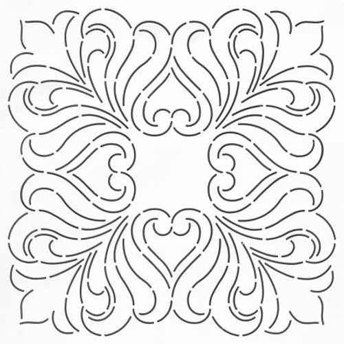 Coats Thread /& Zippers MS06 Quilt Stencil Holly Border 2-1//2