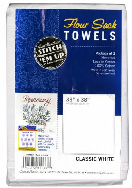 Aunt Martha's Flour Sack Towels 33x38