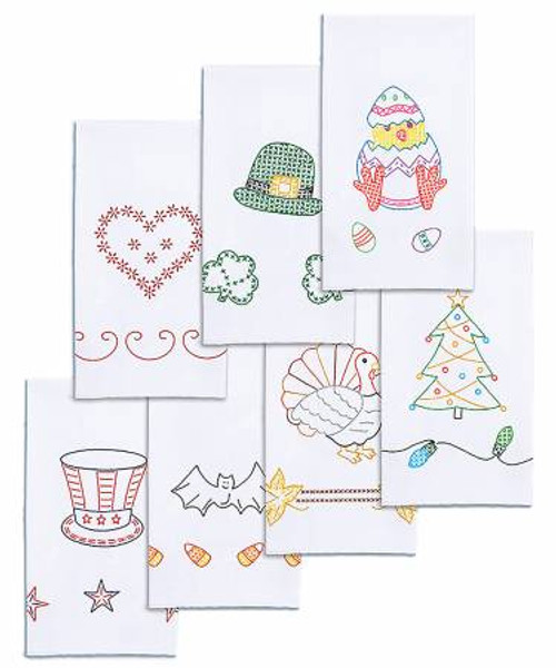 Set of Holiday towels by Jack Dempsey