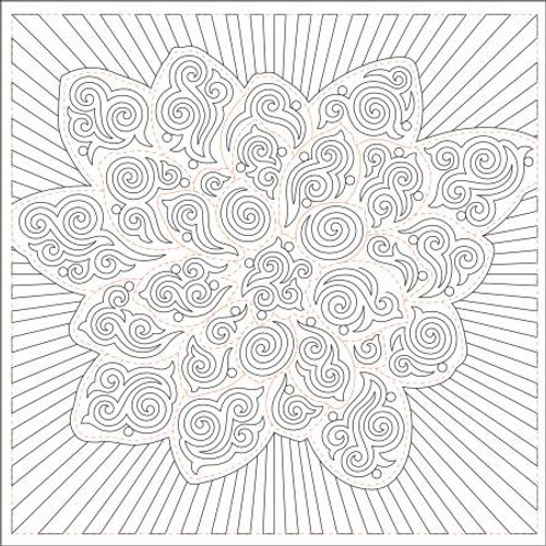 Dream Big Flower Stencil Aquarius