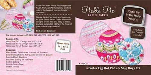 Easter Egg Pot Holders and Mug Rugs