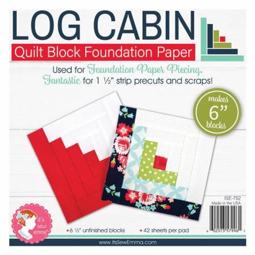 Log Cabin foundation Paper 6 inch