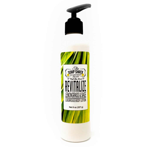 Lemongrass Sage body lotion 8oz pump