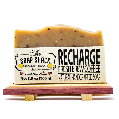 Recharge Coffee Soap Bar. Made by The Soap Shack