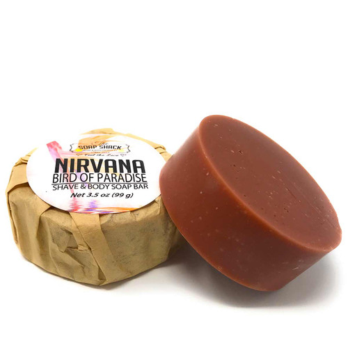 Natural Shave Soap Bird of Paradise 3.5 oz round