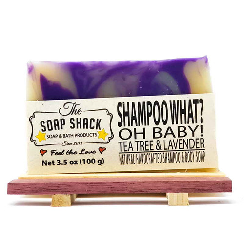 Tea Tree Lavender Handmade Shampoo Bar Soap