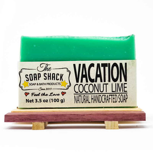 Coconut Lime Soap bar. Made by The Soap Shack