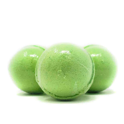 Coconut Lime Bath Bomb. Handmade by The Soap Shack