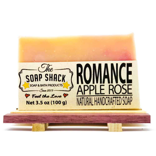 Apple Rose with Goats milk Handmade Bar Soap. Made by The Soap Shack