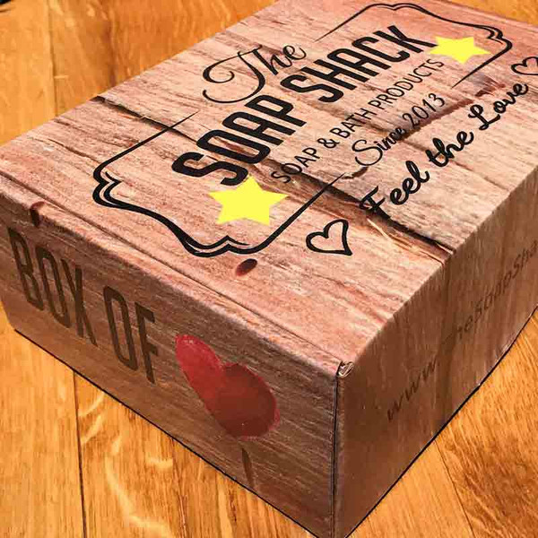 Box of Love soap and bath products from The Soap Shack