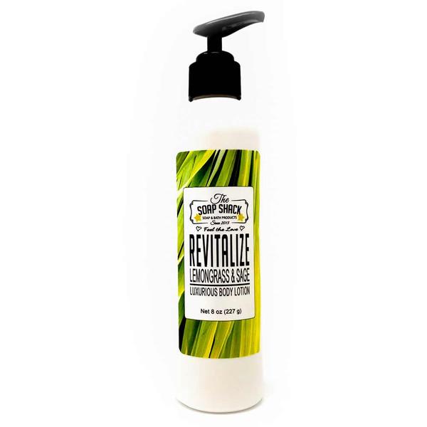 Lemongrass Sage body lotion 8oz pump