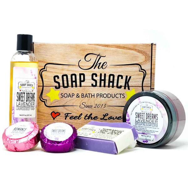Box of Love Gift box of products for the perfect shower - from The Soap Shack