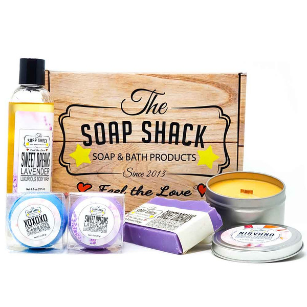 Box of Love Gift box of products for the perfect bath - from The Soap Shack