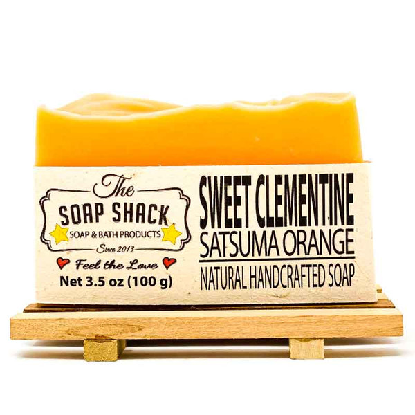 Satsuma Orange scented Soap Bar. Made by The Soap shack
