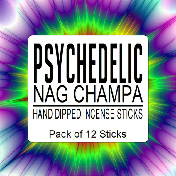 Nag Champa Hand Dipped Incense. Pack of 12 sticks. By The Soap Shack