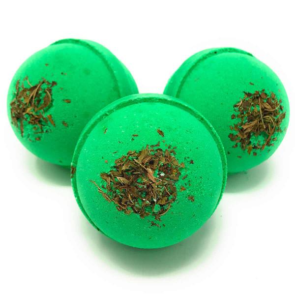 Bath Bombs Eucalyptus and Peppermint 3 oz round
