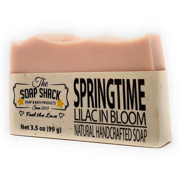 Lilac Soap bar. Made by The Soap Shack