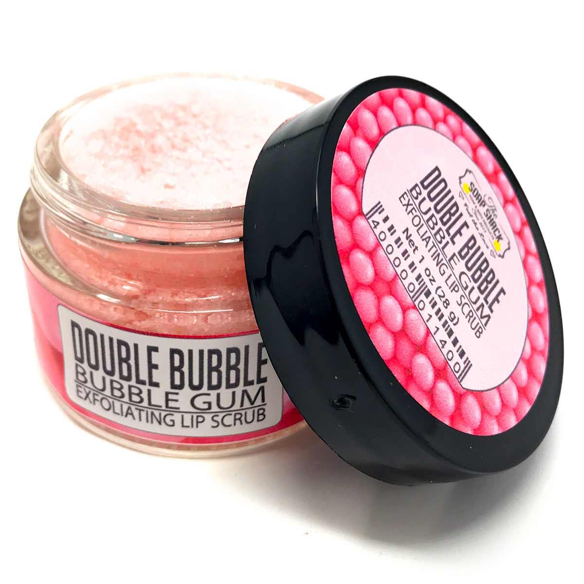 Sugar Lip Scrub - Bubble Gum flavored in small 1 oz glass jar