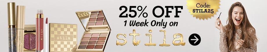 Stila 25% off