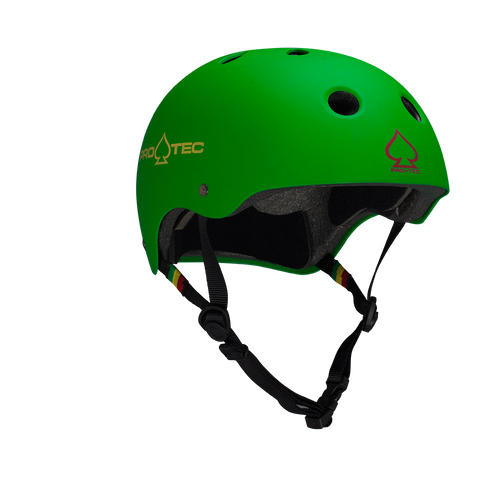 Pro-Tec Classic Skate Helmet - Matte Rasta Green