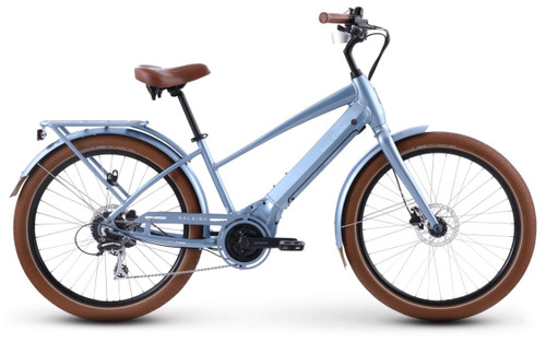 2021 Raleigh Retroglide Royale IE Step Thru Electric Bike - Metallic Blue Grey