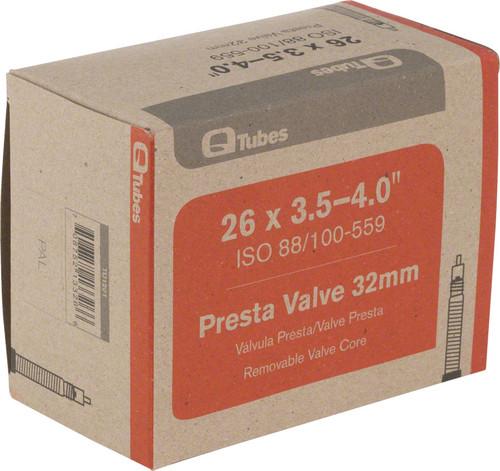 """Q-Tubes 26 x 3.5-4"""" Fat Bike Tube 32mm Presta Valve"""