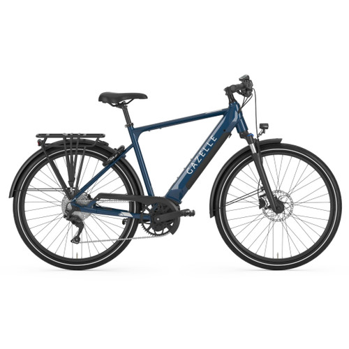 Gazelle Medeo T10 + HMB Electric Bike - Mallard Blue