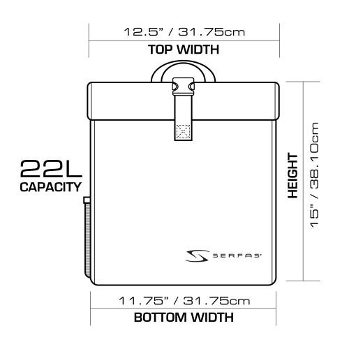 Serfas Single Pannier Bag Dimensions