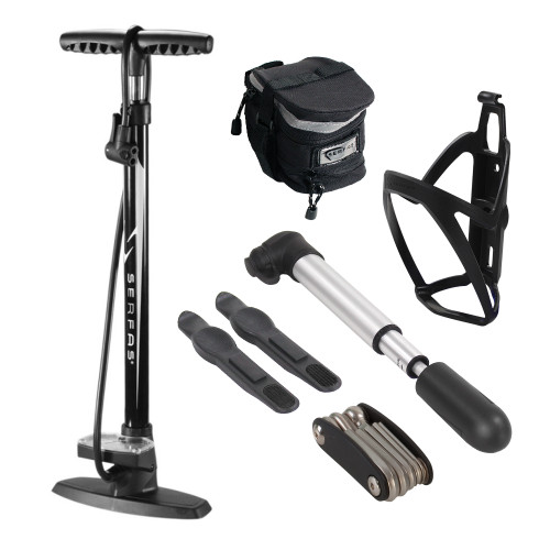 Serfas Bike Combo Kit w/ Floor & Mini Pump
