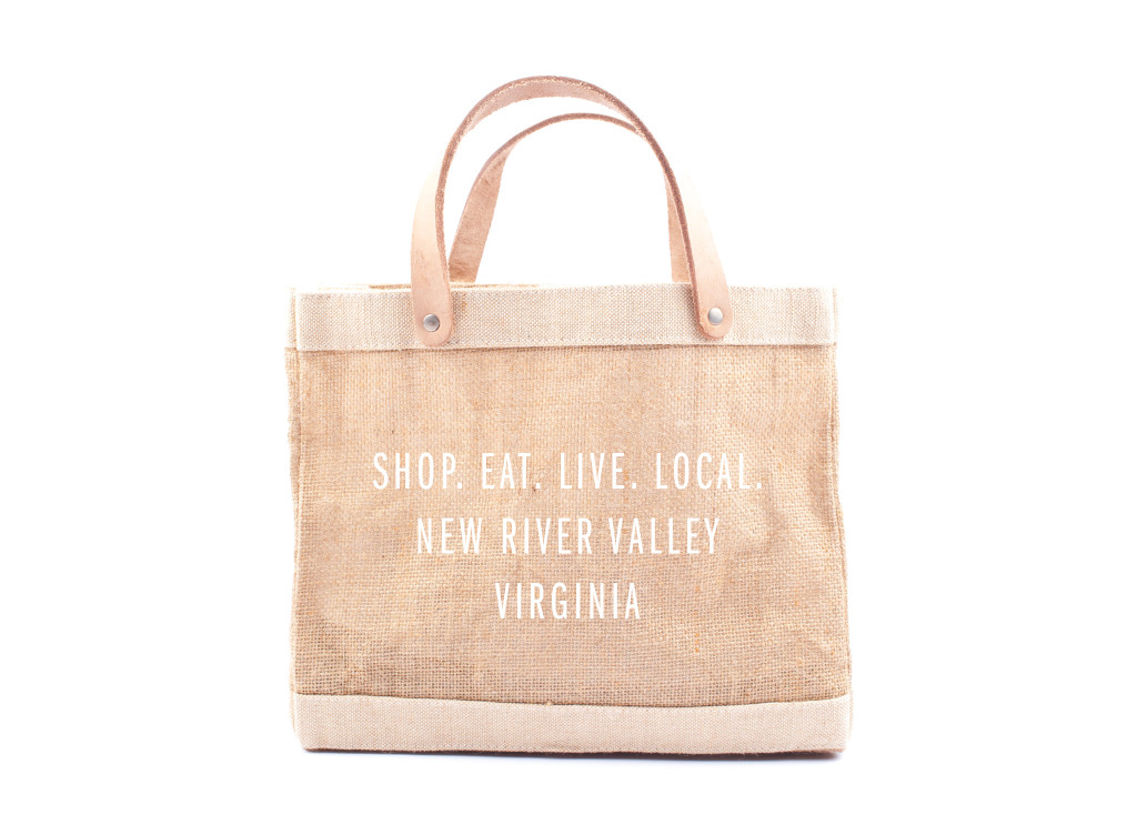 This Market Bag that supports the New River Valley Virginia and mothers in Bangladesh who make the bags.