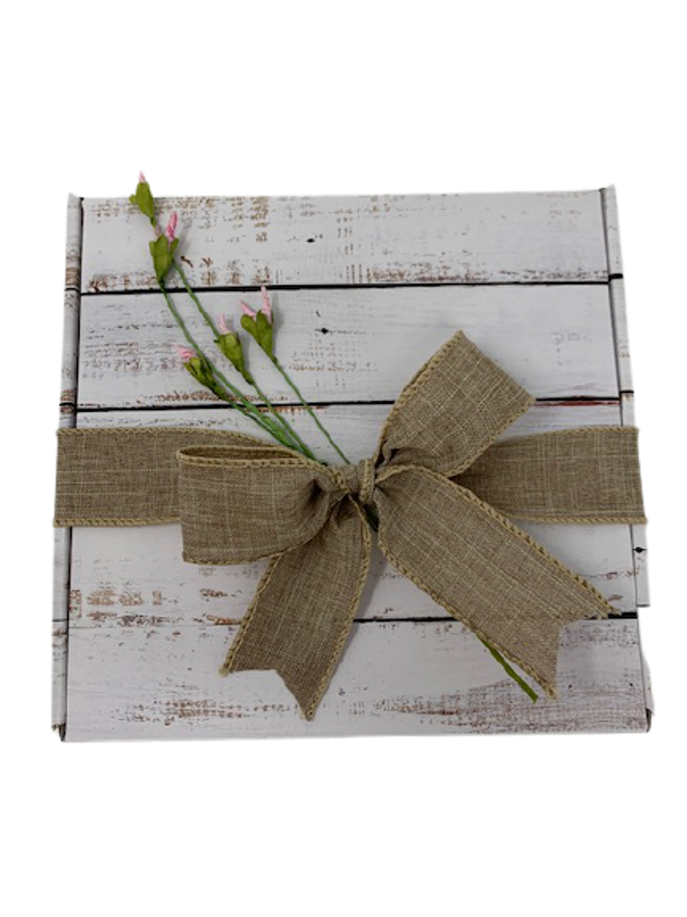 Beautiful gift box adorned with rosebuds.