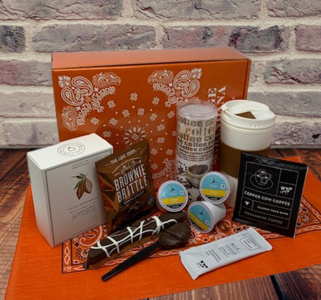This coffee care package is perfect for students!