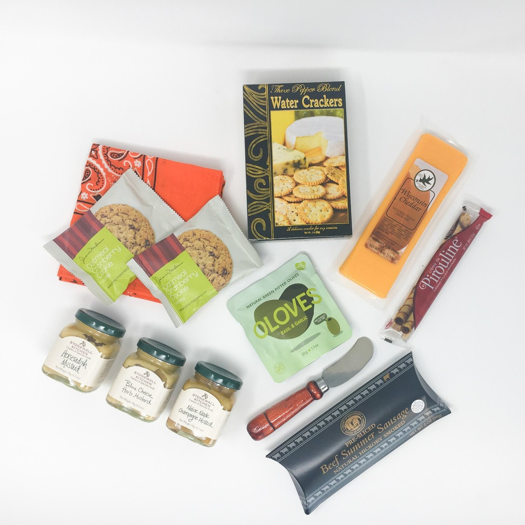 Delicious snacks fill the shadowbox.