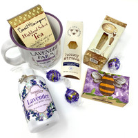 Set a relaxing mood with these lavender products and gourmet treats.