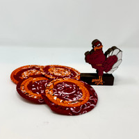 Hokie Coasters for your next Virginia Tech party!  Match the Hokie Bowl perfectly!