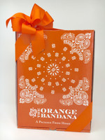 Our orange bandana box lands on the doorstep and sends an amazing message of love!  We also include an orange bandana!