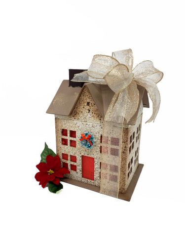 This luminary house will become a part of your Holiday Decorations.  Just add a battery operated candle.