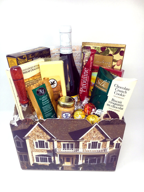 This stately Welcome Home Basket will please any new home owner!