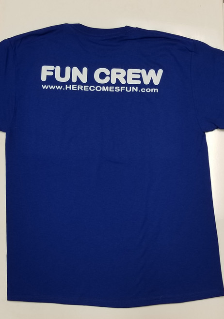 Blue Fun Crew Shirt - New Logo