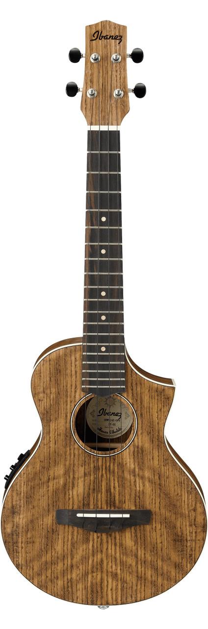 Ibanez Uewt14e Exotic Wood Cutaway Acoustic Electric Tenor Ukulele