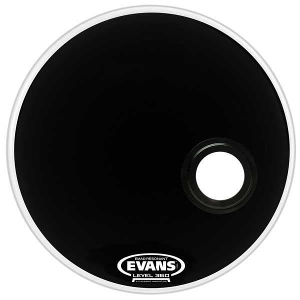 "Evans EMAD 22"" Bass Reso w/ Port Hole"