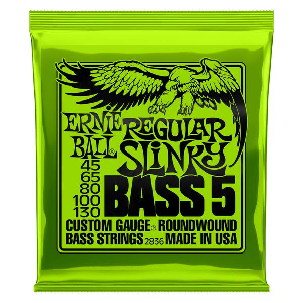 Ernie Ball Regular Slinky 5-String Nickel Wound Electric Bass Strings - 45-130 Gauge