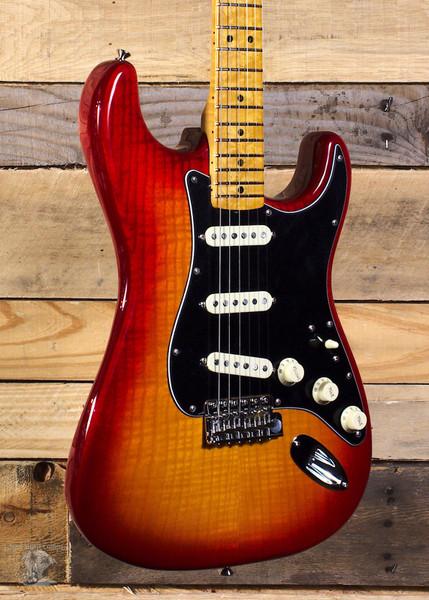 Fender Rarities Flame Ash Top Stratocaster Plasma Red Burst w/ Case
