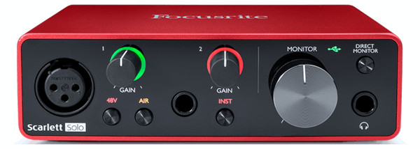 Focusrite Scarlett Solo 2 Input / 2 Output Audio Recording Interface