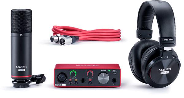 Focusrite Scarlett Solo 2 Input / 2 Output Audio Recording Interface Studio Pack