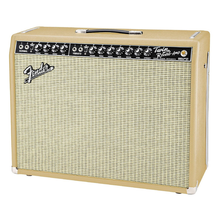 """Fender '65 Twin Reverb """"British Tan"""" Limited Edition Guitar Combo Amplifier"""