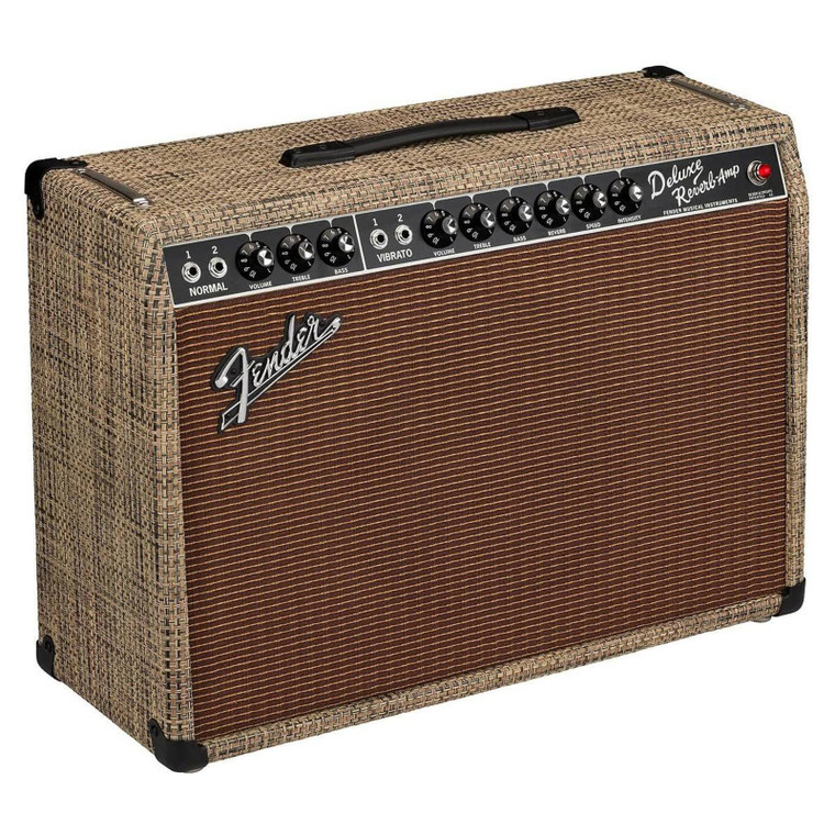 Fender 2020 Limited Edition '65 Deluxe Reverb Ruby Alnico Chilewich Bark
